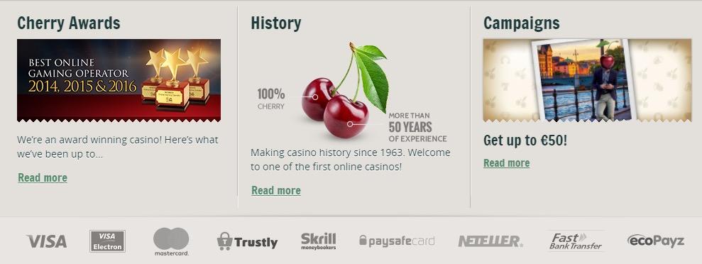 cherrycasino bonuses